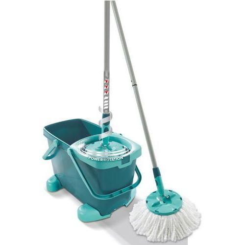 LEIFHEIT Zestaw Clean Twist System Mop z kółkami (wiadro + system odwirowujący + mop) 52052 ze sklepu Mall.pl