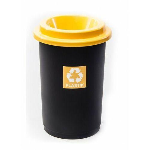 Kosz na śmieci pojemnik do segregacji ECO BIN 50L Yellow - produkt dostępny w twojekosze.pl