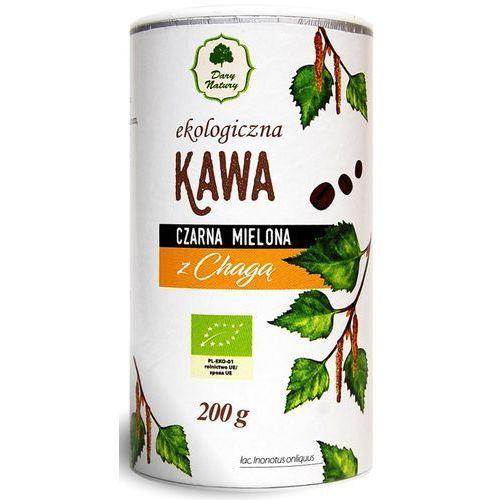 Dary natury - inne bio Kawa czarna mielona z chagą bio 200 g - dary natury (5902581617965)