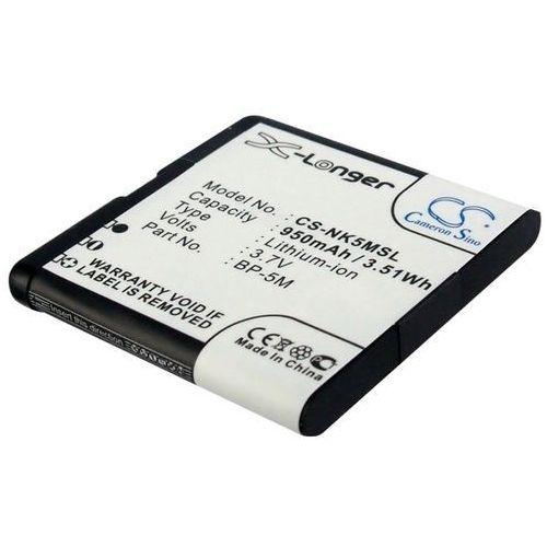 Nokia 7390 / BP-5M 950mAh 3.52Wh Li-Ion 3.7V (Cameron Sino) - produkt z kategorii- Baterie do telefonów
