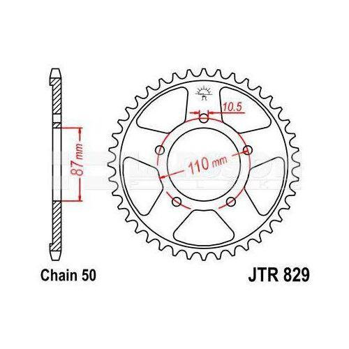 Zębatka tylna stalowa JT 829-43, 43Z, rozmiar 530 2300675 Suzuki VZ 800, GSX 750