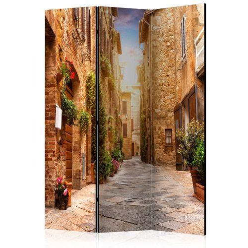 Artgeist Parawan 3-częściowy - kolorowa uliczka w toskanii [room dividers] bogata chata