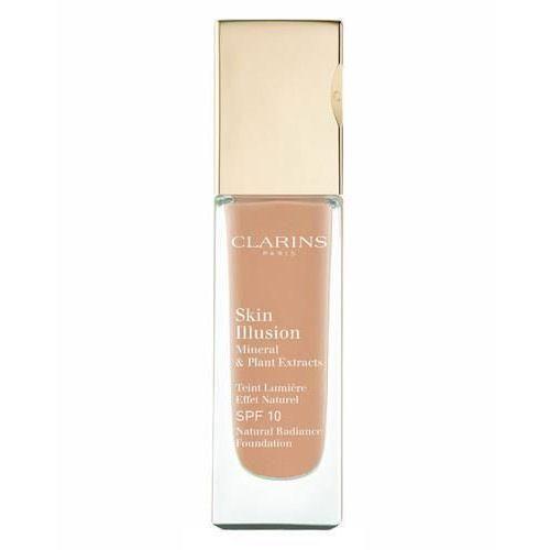 Clarins Face Make-Up Skin Illusion podkład rozświetlający dający naturalny efekt SPF 10 odcień 112 Amber (Natural Radiance Foundation with Mineral & P (3380814027217)