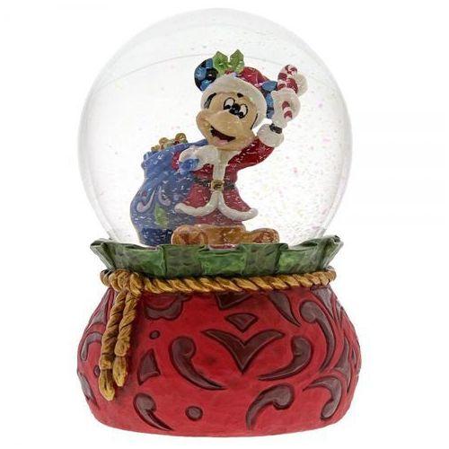 Myszka mickey mikołaj świąteczne życzenia kula śnieżna bringing holiday cheer (santa mickey mouse waterball) 6001360 figurka ozdoba świąteczna marki Jim shore