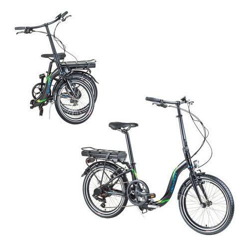 """Składany rower elektryczny 20122 20"""" - model 2017, czarny marki Devron"""