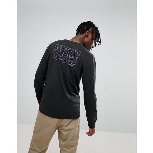 Brixton Vitus Long Sleeve T-Shirt With Back Print - Black, w 3 rozmiarach