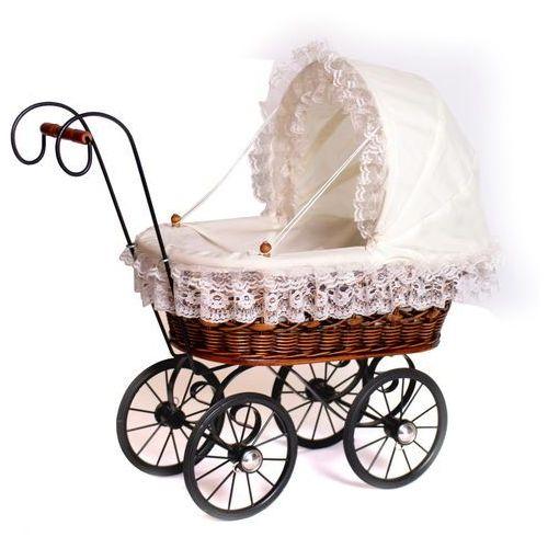 Malutki, wiklinowy wózek dla lalek, 8755-small foot, zabawki dla dziewczynek - oferta [0535672345658535]