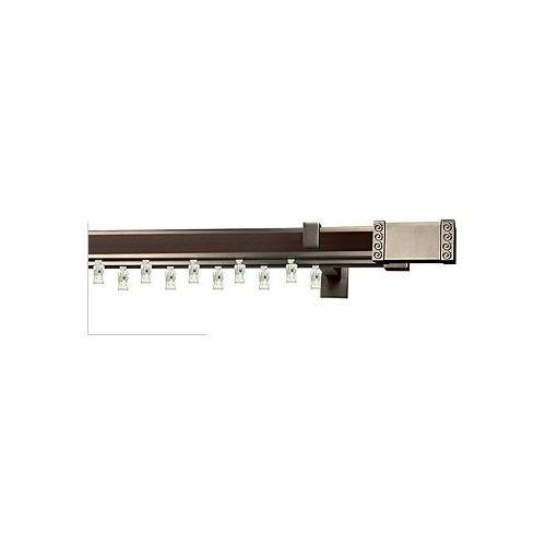 Karnisze aluminiowe AVENO / Karnisz AVENO Prestige PALEO podwójny antracyt-wenge - oferta [b59beb0ab1523299]