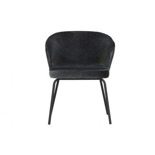 Be Pure Krzesło do jadalni ADMIT aksamit czarny 800172-Z, 800172-Z