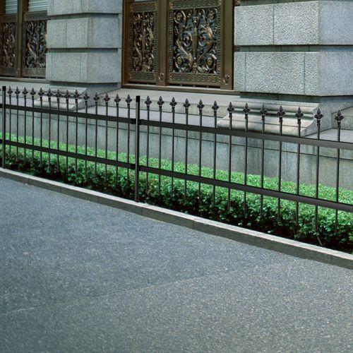 Ogrodzenie ozdobne palisadowe ze stali, szpiczaste zakończenie, czarne, 100 cm, vidaXL z VidaXL