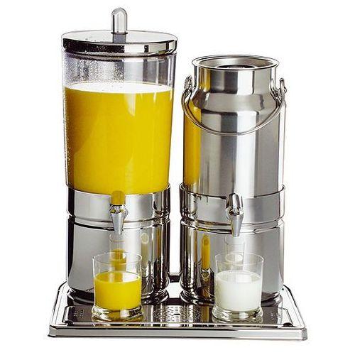 Dyspenser do soków i mleka podwójny 6 + 5 l   , top fresh marki Aps