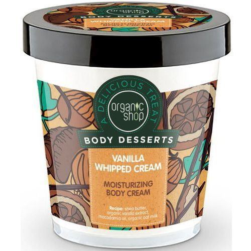 Organic shop body desserts krem do ciała nawilżajšcy vanilia whipped cream 450 ml marki Sib