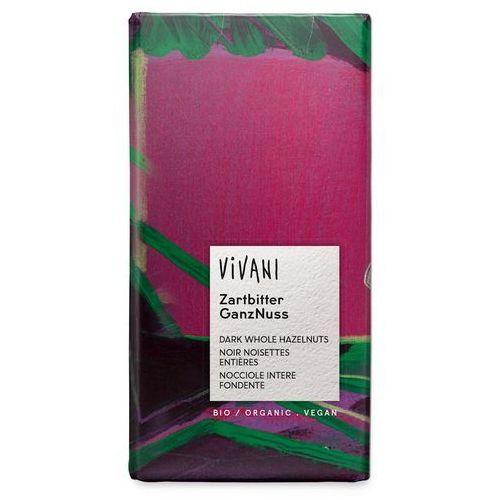 Vivani : czekolada gorzka z całymi orzechami laskowymi bio - 100 g (4044889011586)