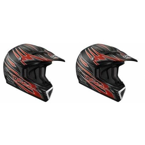 Lazer Kask moto. mx7 hot rod czarny/czerwony mat