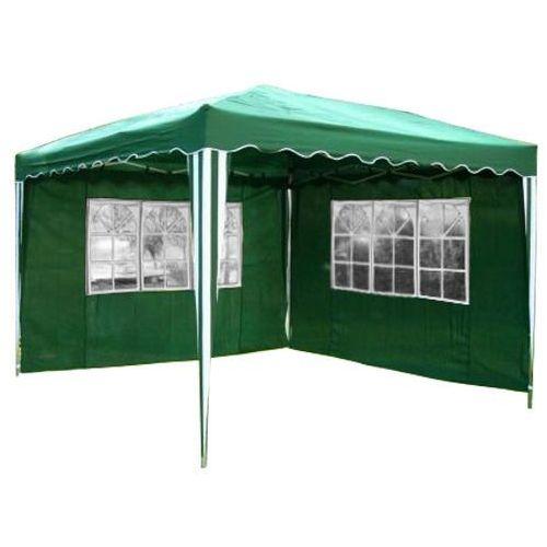 Ekspresowy pawilon namiot ogrodowy 3x3 2 ściany - zielony marki Mks