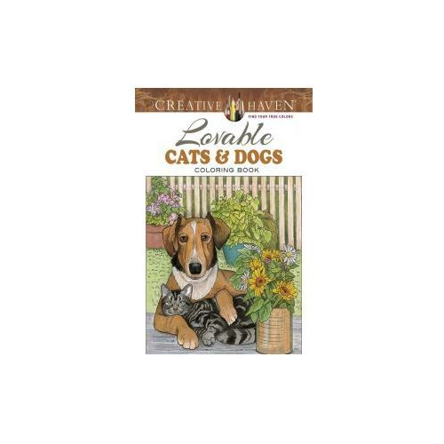 Creative Haven Lovable Cats and Dogs Coloring Book (9780486804453)