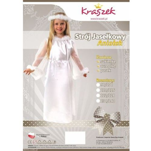 Strój Aniołek przebrania/kostiumy dla dzieci na jasełka - produkt dostępny w www.epinokio.pl