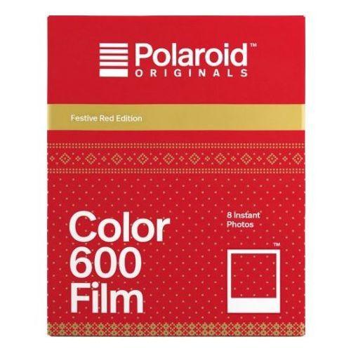 Impossible Polaroid originals 600 color festive red edition wkład do aparatu polaroid z metaliczno-czerwonymi ramkami