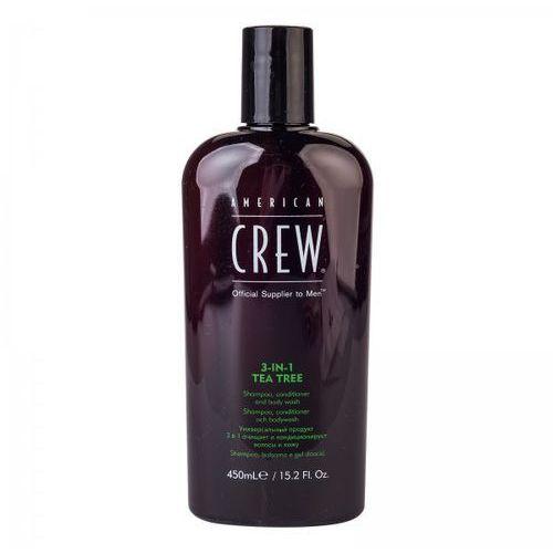American crew tea tree 3-in-1 - szampon, odżywka, żel pod prysznic 450ml