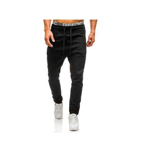 Spodnie joggery męskie czarne Denley 0803, kolor czarny
