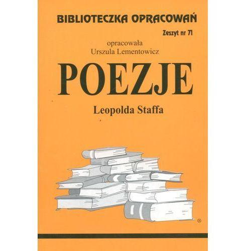 Poezje Leopolda Staffa Zeszyt 71 (2001)