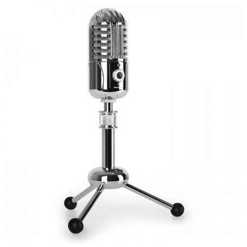 Auna cm280, mikrofon pojemnościowy usb, srebrny, (4260359381526)