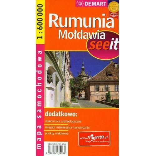 Mapa samochodowa. Rumunia, Mołdawia. 1:600 000. - Praca zbiorowa, oprawa miękka