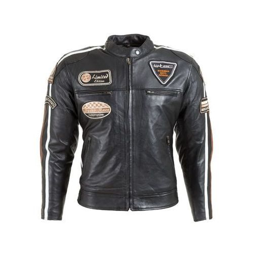 Damska skórzana kurtka motocyklowa sheawen lady, czarny, xxl marki W-tec