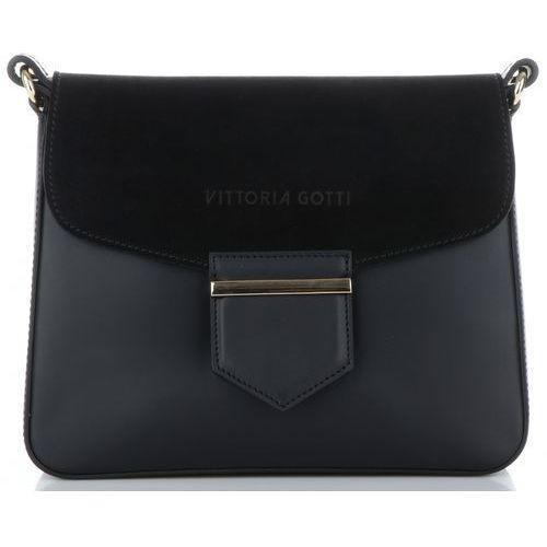3835b2534fe12 Vittoria gotti eleganckie i praktyczne włoskie torebki skórzane listonoszki  wykonane z wysokiej jakości skóry naturalnej czarne (kolory) 239