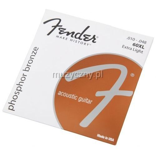 Fender 60XL PB struny do gitary akustycznej 10-48