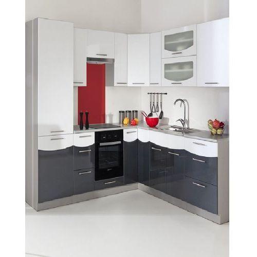 Zestaw narożny mebli kuchennych Smile Textile White/Black produkcji Stolkar | Transport Gratis ! z kategorii zestawy mebli kuchennych