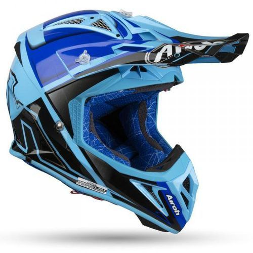 KASK OFF- ROAD AIROH AVIATOR 2.2 CHECK BLUE GLOSS