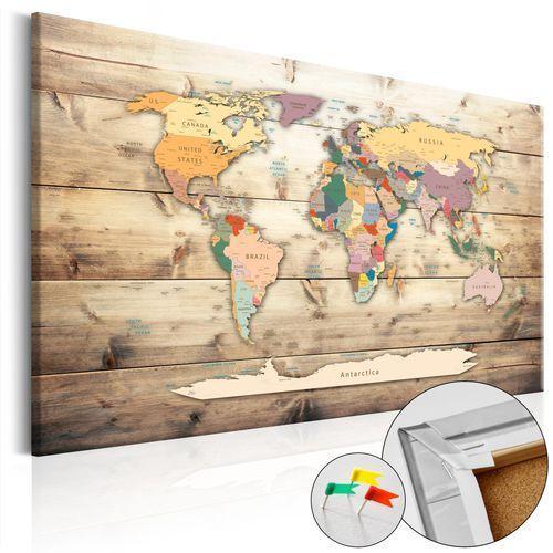 Artgeist Obraz na korku - świat na wyciągnięcie ręki [mapa korkowa]
