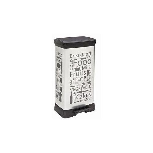 Kosz na odpady Deco Bin z pedałem 50 l Kitchen Silver - oferta [0595ea02711296d0]