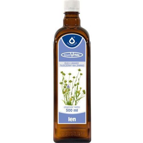 Olej lniany tłoczony na zimno linumvital 500ml marki Oleofarm