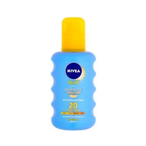 Nivea 200ml sun protect & bronze spray do opalania aktywujący opaleniznę spf 20