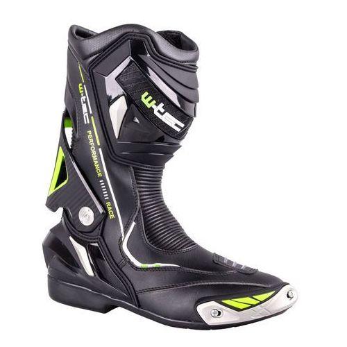 W-tec Skórzane buty motocyklowe hernot w-3015, czarny-fluo żółty, 42