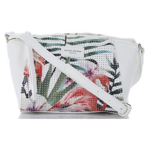8728d16a32800 Unikatowe torebki damskie firmy modne listonoszki wykonane z wysokiej  jakości skóry ekologicznej w tropikalne wzory mulikolor białe (kolory)  marki David ...