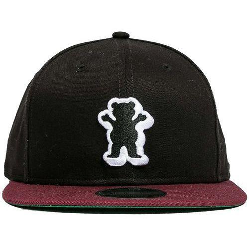 Czapka z daszkiem - dimensional og bear snapback black-burgundy (blk) marki Grizzly