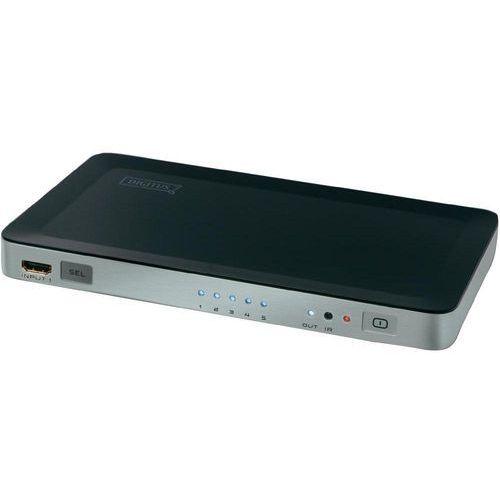 Przełącznik, switch HDMI Digitus DS-45300, 5 Portów, z pilotem zdalnego sterowania, obsługa obrazu 3D