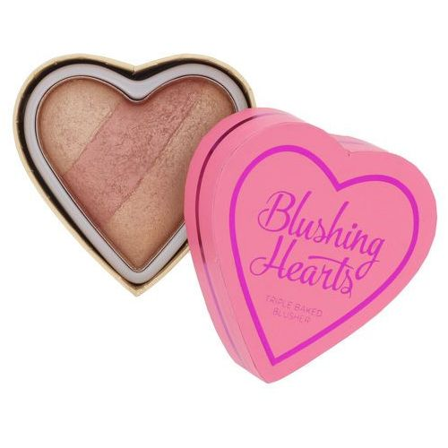 Makeup Revolution I ♥ Makeup Blushing Hearts róż do policzków odcień Peachy Keen Heart 10 g