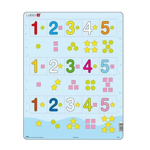 Puzzle MAXI - Čísla 1-5 s grafickými znaky/15 dílků neuveden