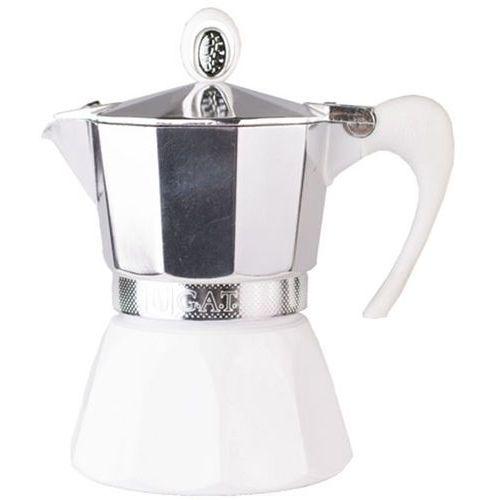 Kawiarka aluminiowa G.A.T. Diva 3 filiżanki, biała
