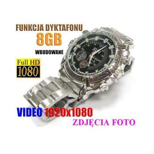 Szpiegowski Zegarek FULL HD na Rękę (8GB), Nagrywający Obraz/Dźwięk + Dyktafon + 4x Diody IR., 590112954871