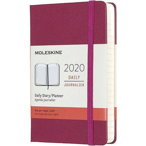Kalendarz Moleskine 2020 Dzienny, Pocket, różowy