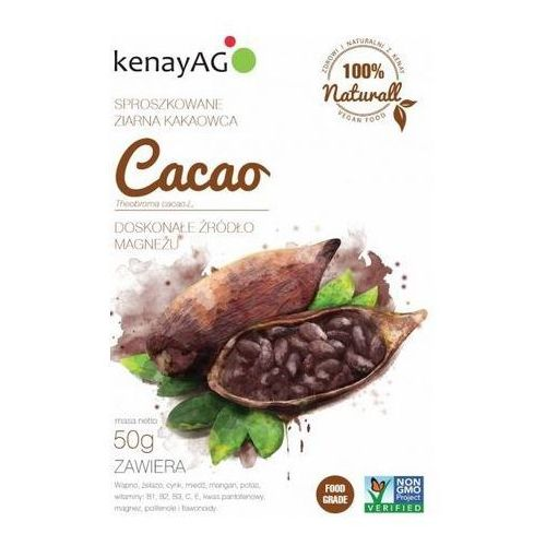 Kenay ag Cacao - sproszkowane ziarno 50g