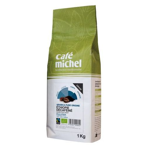 Cafe michel (kawy) Kawa ziarnista bezkofeinowa arabica etiopia fair trade bio 1 kg - cafe michel