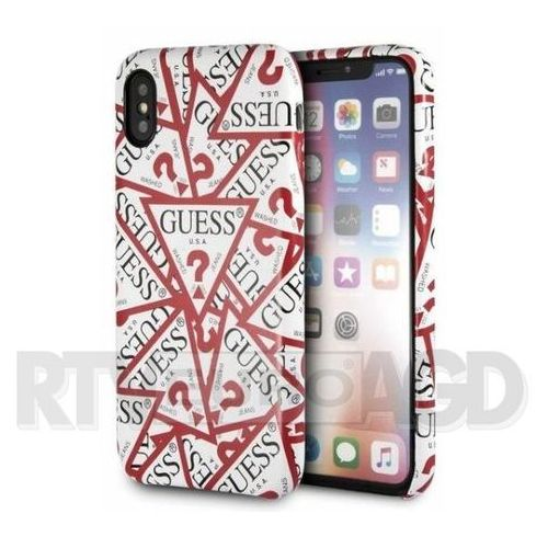 Guess etui hardcase guhcpxpmpt iphone x biały triangle all over (3700740423523)
