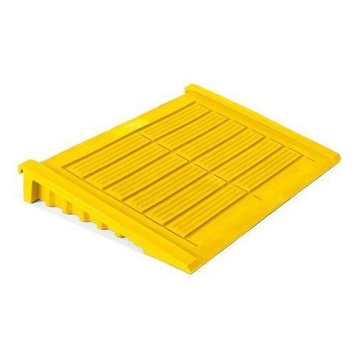 Array Żółta rampa najazdowa 1220x840x160mm do podestów wyłapujących