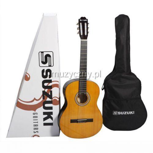 scg-2 gitara klasyczna 1/2 z pokrowcem, natural marki Suzuki